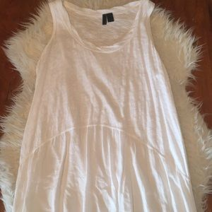 Anthropologie Left of Center Mixed Tunic Top
